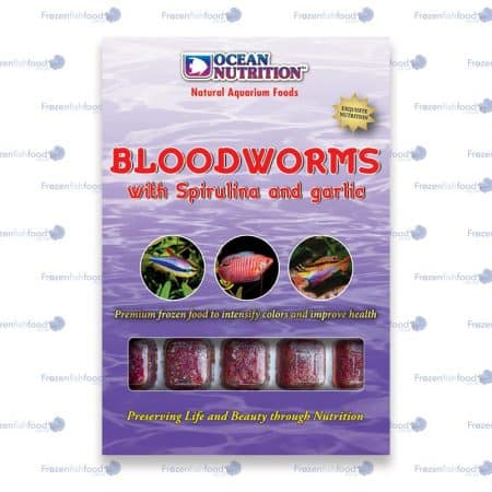 Bloodworms with Spirulina and Garlic