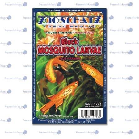 Black Mosquito Larvae