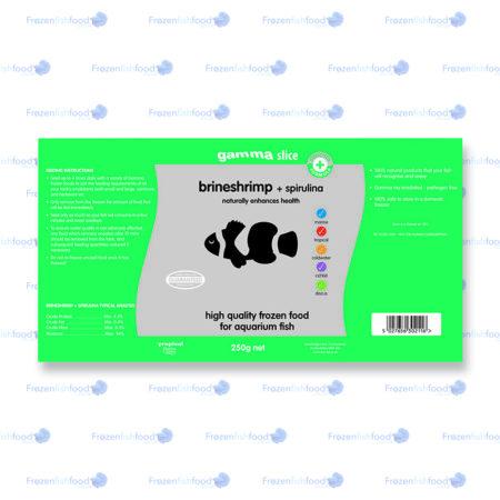 brineshrimp spirulina slab 250g slice